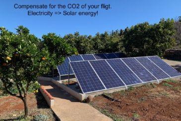 Energía solar para electricidad.